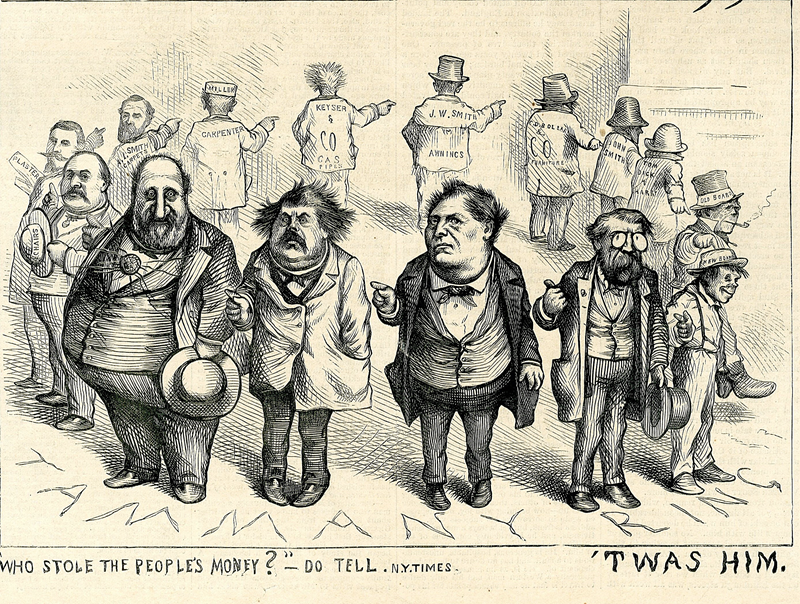"Thomas Nast, ""Who stole the People's Money?"" – "" 'Twas Him!"""